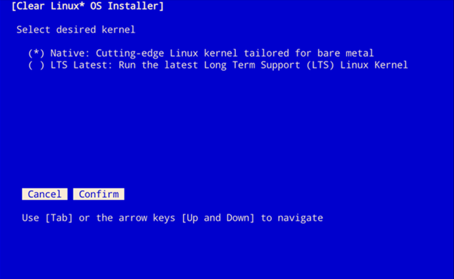 Install Clear Linux* OS from the live server — Documentation